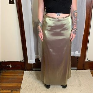 Gold (iridescent) Polyester Maxi Skirt